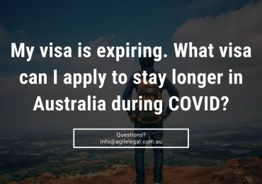 My visa is expiring. What visa can I apply to stay longer in Australia during COVID?